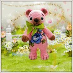 medvídek Růžička - návod Teddy Bear, Pdf, Animals, Animales, Animaux, Teddy Bears, Animal, Animais