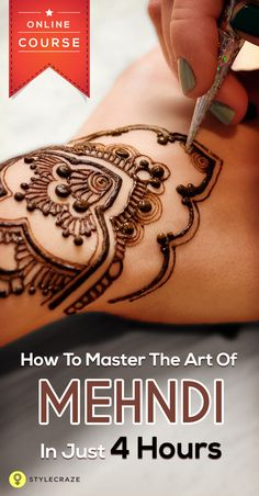 Looking for a New Hobby? Our Mehndi Course will definitely interest you.