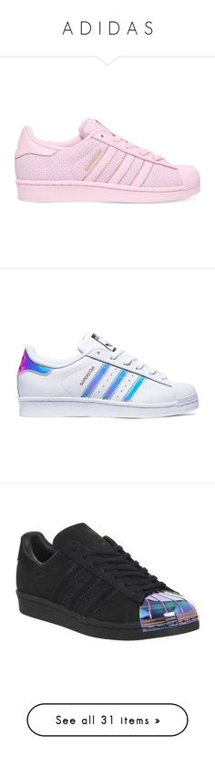 """A D I D A S"" by itssaiv0y ❤ liked on Polyvore featuring adidas, shoes, sneakers, tenis, adidas shoes, blue shoes, blue color shoes, iridescent sneakers, trainers and black petrol"