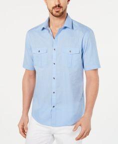 c354746ad0 Alfani Men Warren Textured Short Sleeve Shirt