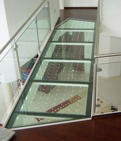 powerglass®: walkable glass / glass bridge by Glas Platz Glass Walkway, Glass Bridge, Window Canopy, Window Wall, Glass Structure, Translucent Glass, Diy Home Repair, Apartment Balconies, Glass Floor