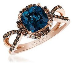See the Le Vian Chocolatier Deep Sea Blue Topaz & Chocolate Ring. Blue Topaz Ring, Topaz Gemstone, Engagement Rings Under 1000, Chocolate Rings, Stylish Jewelry, Gold Rings, Le Vian, Deep Sea, Topaz Jewelry