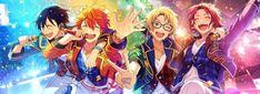 あんスタクソコラグランプリのコラ画像「『奇跡☆決勝戦のウィンターライブ』 ☆5(Trickstar 氷鷹北斗・明星スバル・遊木真・衣更真緒)」 Ensemble Stars, Otaku, Idol, Anime, Banner, Princess Zelda, Manga, Cute, Fictional Characters