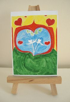ACEO Art Print  'Love is all' by ChanelledCreations on Etsy, £3.15