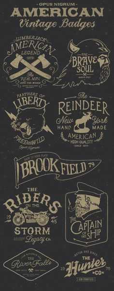 American Vintage Badges Part 3 on Behance