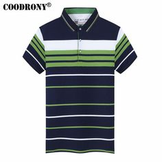 Short Sleeve T-Shirts Men Cotton Top New Arrival Casual Striped Turn-down Collar Tee Shirt