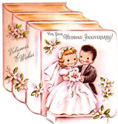 vintage wedding bride and groom greeting cards Vintage Wedding Cards, Vintage Greeting Cards, Birthday Greeting Cards, Congratulations Greetings, Wedding Congratulations, Wedding Shower Cards, Card Wedding, Wedding Bride, Happy Aniversary