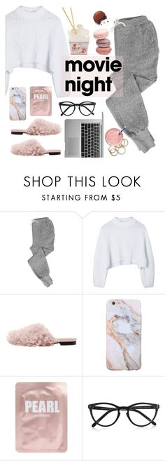 """""""Movie night"""" by punnky ❤ liked on Polyvore featuring V::ROOM, Lapcos and Selima Optique"""