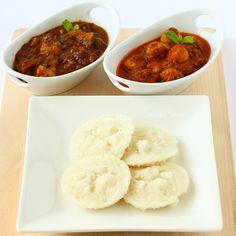 Sannas / Kallu Idli ~ Steamed Rice Cake Ingredients: Raw Rice / Pachari / Doppi Rice / Ponni Rice-2 cups Parboiled Rice / Puzhukkal ari-2 cups Black gram dhal/ Urad dhal-1/2 cup Yeast -1tbsp (Toddy- 500ml) Sugar-4-5 tbsp Salt to taste