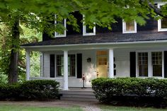 Love colonial houses with big porches.