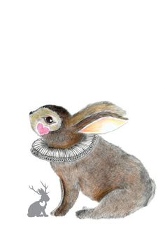 Carnival Bunny...Open Edition A4 Art Print by kirbeeart on Etsy