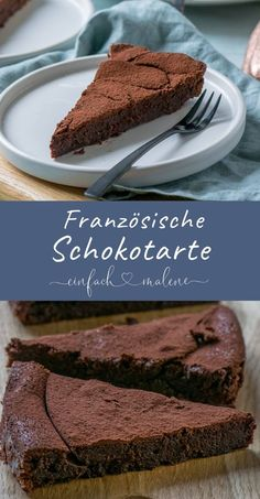French chocolate tart - creamy, chocolatey and mega delicious . - This chocolate tart is just incredibly creamy and tastes absolutely fantastic. The French chocolate tart is super easy to bake. Italian Cookie Recipes, Italian Desserts, Easy Desserts, French Recipes, Gourmet Desserts, Plated Desserts, Dessert Simple, Brownie Recipes, Cake Recipes