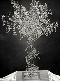 Crystal Beaded Metal Tree