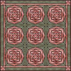 Cabbage Rose quilt block