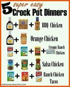 Super easy crockpot meals