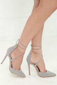 Sexy Black Heels - Caged Heels - Caged Pumps - $39.00