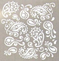 Folk Art Reusable Painting Stencil Template Cut Painting Plaid Paisley Delight in Crafts, Art Supplies, Decorative & Tole Painting | eBay