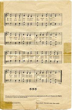 """Partition musicale de l'hymne """"Plus près de toi, mon Dieu"""" exécuté à bord du Titanic dans la nuit du 14 au 15 avril 1912 et éditée en 1912 au bénéfice de la Société Centrale de Sauvetage des Naufragés (Paris). En mémoire des artistes de l'orchestre ayant succombé à leur pupitre, c'est à dire à leur poste, en jouant l'hymne. (Page 2)"""