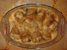 Tejben sült csirkecomb