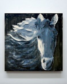 NIGHT HORSE // Julie Sneed, acrylic on canvas