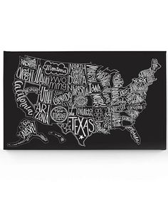 Wake up the walls with this visually striking art. Constructed from gallery-wrapped canvas and featuring a whimsical map of the United States, this piece is easy to hang and fits into the décor of any room.