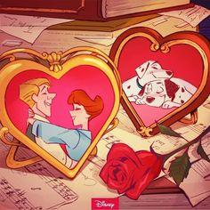 Old Disney, Disney Love, Disney Pixar, Disney Characters, Disney Stuff, Valentines Movies, Disney Valentines, Happy Valentines Day, 101 Dalmatians Movie