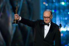 "Ennio Morricone - winner of the Best Score Academy Award for ""The Hateful Eight"", 2016."