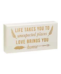 Love this 'Unexpected Places' Box Sign by Collins on #zulily! #zulilyfinds