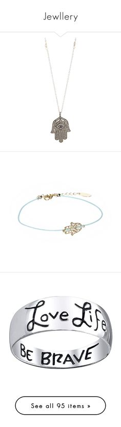 """""""Jewllery"""" by in-my-mind925 ❤ liked on Polyvore featuring jewelry, necklaces, accessories, colorless, pendant necklace, diamond hamsa necklace, diamond necklace, ball pendant necklace, diamond necklace pendant and bracelets"""