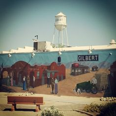 Great photo of the #GilbertAZ Water Tower taken by Instagram user @sween_re.