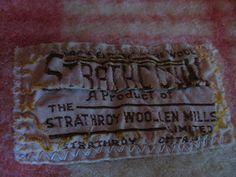 "Vintage ""Strathroy Woolen Mills"" blanket, from Ontario, Canada.  Via Homeacre on Blogspot."
