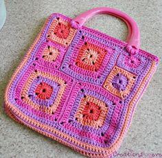 The modern granny squares crochet bag  / вязание крючком и интересные схемы для вязания
