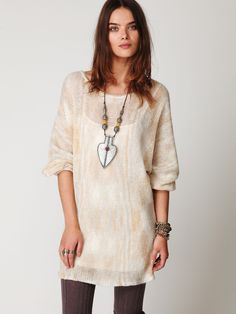 The sweater dress needs to go on SALE- Free People