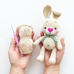 Educational and interesting ideas about amigurumi, crochet tutorials are here. Amigurumi Patterns, Amigurumi Doll, Doll Patterns, Knitting Patterns, Crochet Patterns, Crochet Bunny, Cute Crochet, Crochet Dolls, Crochet For Beginners
