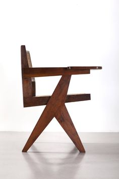 Pierre Jeanneret, Writing Chair, circa 1960 | From a unique collection of antique and modern chairs at https://www.1stdibs.com/furniture/seating/chairs/