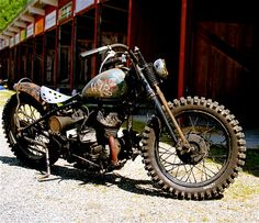 Dirt bike bobber