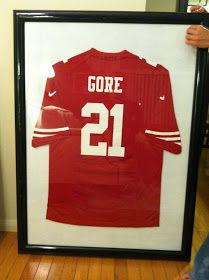 $200+ to have a Jersey Framed... ha! I think not...Bam! on the DIY