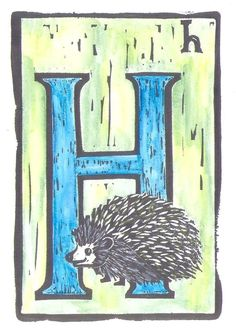 H is for Hedgehog  by monster in the closet