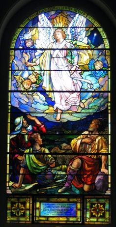Joseph Lauber | The Nativity of Our Lord, 1919 | Leaded glass | Evangelical Lutheran Church of the Holy Trinity, Lancaster, PA (Window post-dates Lauber's employment with Tiffany)