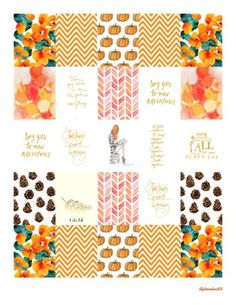 FREE October Planner Stickers 2015