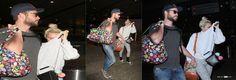 Miley e Liam chegam em L.A de mãos dadas