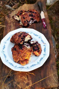 Swedish buns - blueberry, orange and cardamom. Jamie Oliver .