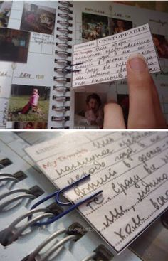 Use a paper clip to add an insert into a Smash book. - Crafting Journal