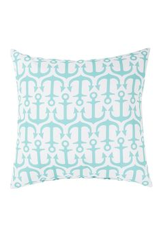 Aqua Anchor Throw Pillow. I'd choose a navy background with white anchors I think.