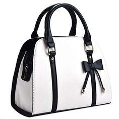 Coofit Lady Handbag Little Bow Leisure Top-Handle Bags Shoulder Bag Purses and Handbags(Beige) Source by bags Best Handbags, Fashion Handbags, Tote Handbags, Purses And Handbags, Fashion Bags, Leather Handbags, Pink Handbags, Cheap Handbags, Luxury Handbags