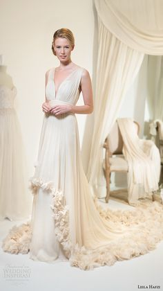 """Leila Hafzi 2016 Wedding Dresses — Royaye Sefid VI """"Asha"""" Bridal Collection 
