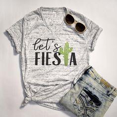 Let's Fiesta Cactus Shirt Cinco De Mayo Tee Funny