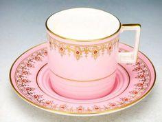 Nice teacup and saucer Vintage China, Vintage Teacups, Antique China, Turkish Coffee Cups, Pink Cups, Antique Tea Cups, Teapots And Cups, My Cup Of Tea, Tea Cup Saucer