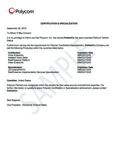 why purchase polycom branded products amp services only from authorized distributor letter sample dealer authorization