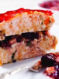 Brick-Shaped Turkey Meatloaf with Cranberry Charoset #alternativethanksgiving